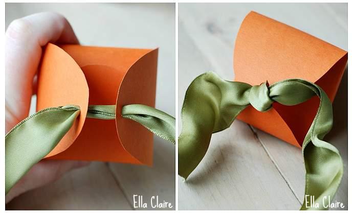 Lembrancinha de Páscoa - Caixa em forma de cenoura 08