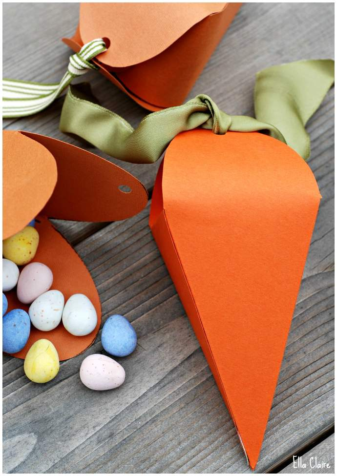 Lembrancinha de Páscoa - Caixa em forma de cenoura 09